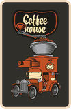 Car and coffee grinder Royalty Free Stock Photography
