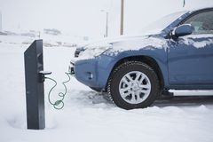 Car in cold, Arctic climate Royalty Free Stock Photography