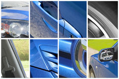 Car collage stock photography