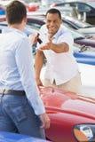 car collecting man new salesman Στοκ Εικόνες