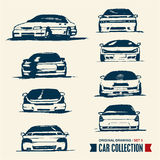 Car collection. Drawing set 3. Stock Photography