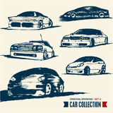 Car collection. Drawing set 4. Stock Photos