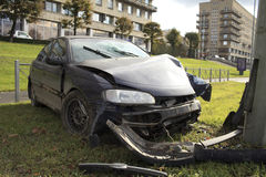Car collision Stock Images