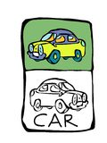 Car coloring book. Printable coloring page for children or can be used as clip art vector illustration