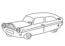 Car - coloring book vector illustration