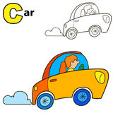 Car. Coloring book page Royalty Free Stock Photography