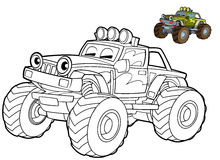 Car coloring page - illustration for the children. Beautiful car coloring page for children royalty free illustration
