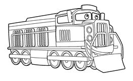 Car coloring page  - illustration for the children Stock Image