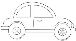 Car coloring page Royalty Free Stock Images