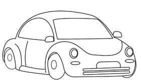 Car coloring page Stock Photography