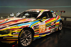 Car. Colorized machine striped sport car Royalty Free Stock Images