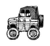 Car in comics style Royalty Free Stock Photography