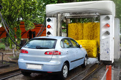 Car Coming into Automatic Car Wash Stock Photography