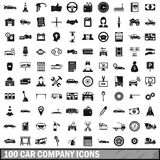 100 car company icons set, simple style. 100 car company icons set in simple style for any design vector illustration vector illustration