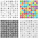 100 car company icons set vector variant. 100 car company icons set vector in 4 variant for any web design isolated on white Stock Photos