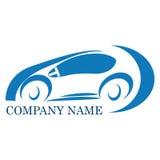 Car company logo. Vector logo car blue for automotive companies Royalty Free Stock Image