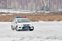 Car competitions for police officers Stock Images