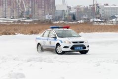Car competitions for police officers Royalty Free Stock Images