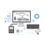 Car Computer Diagnostics Service Auto Mechanics Business Web Banner Stock Photography