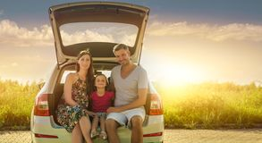 Car concept. Concept of family car insurance or rental cars stock photos
