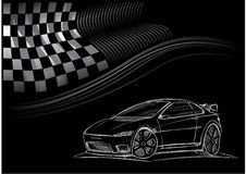 Car Concept Handdrawing Stock Image