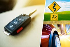 Car Conceptual Collage Royalty Free Stock Image