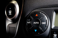 Car condicioner controls Stock Photo