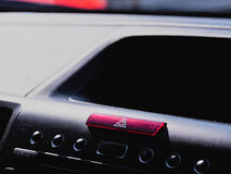 Car console. The red car emergency botton at car console Stock Images