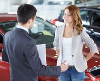 Car consulting Royalty Free Stock Photography