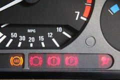 Car control lamps stock photos