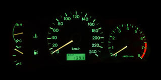 Car control panel Royalty Free Stock Images