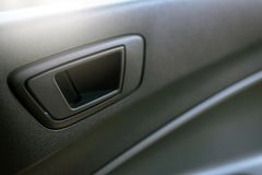 Car control panel of auto button on-off door in car Stock Photo