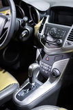 Car control panel and automatic transmission Stock Image