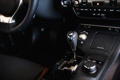 Car control panel close up Royalty Free Stock Photo