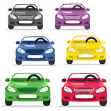 Car convertible different colors Royalty Free Stock Image