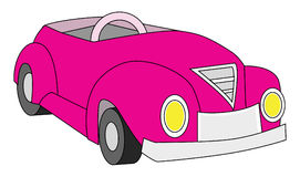 Car convertible pink Royalty Free Stock Image