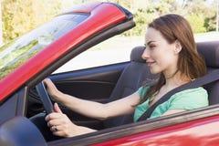 car convertible smiling woman στοκ εικόνες