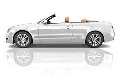 Car Convertible Transportation 3D Illustration Concept Royalty Free Stock Images