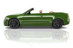 Car Convertible Transportation 3D Illustration Concept Stock Photo