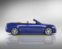 Car Convertible Transportation 3D Illustration Concept Royalty Free Stock Photos