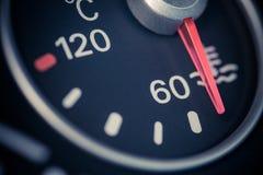 Car coolant temperature gauge Royalty Free Stock Photo
