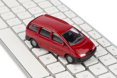 Car on copmputertastatur. Car keyboard symbol photo for buying a car and car dealership on the internet royalty free stock images