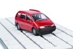 Car on copmputertastatur Stock Images