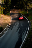 Car cornering Royalty Free Stock Photography