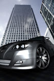 Car in a corporate environment Stock Image