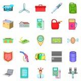 Car correction icons set, cartoon style Royalty Free Stock Image