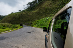 Car in Costa Rica Countryside Royalty Free Stock Images
