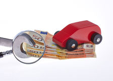 Car costs. For checking for the repair and other costs stock photo