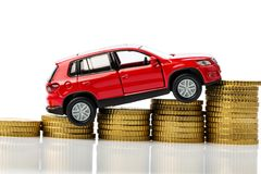 Car costs. Photo icon for car costs and inflation Royalty Free Stock Photography