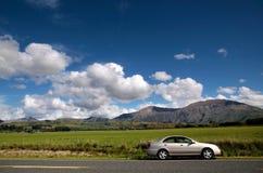 Car at country road Stock Photo